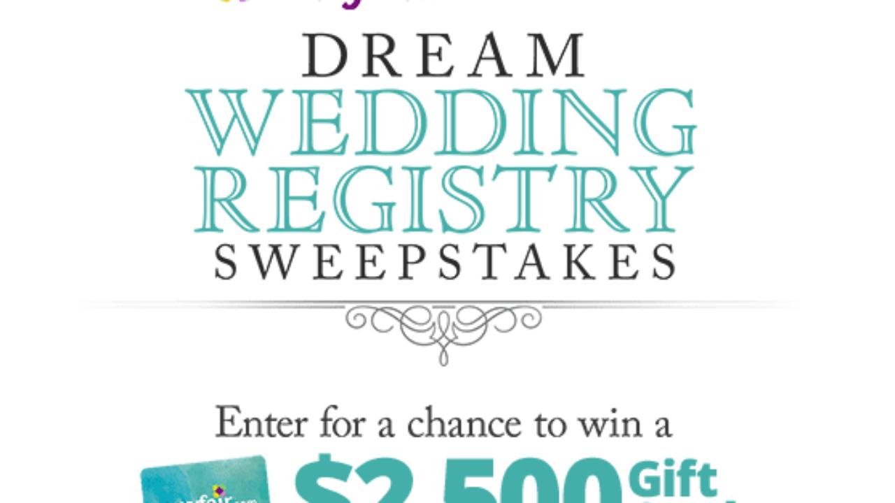HGTV Wayfair Dream Wedding Registry Sweepstakes: Win a