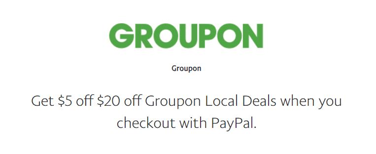 GROUPON $20 OFF