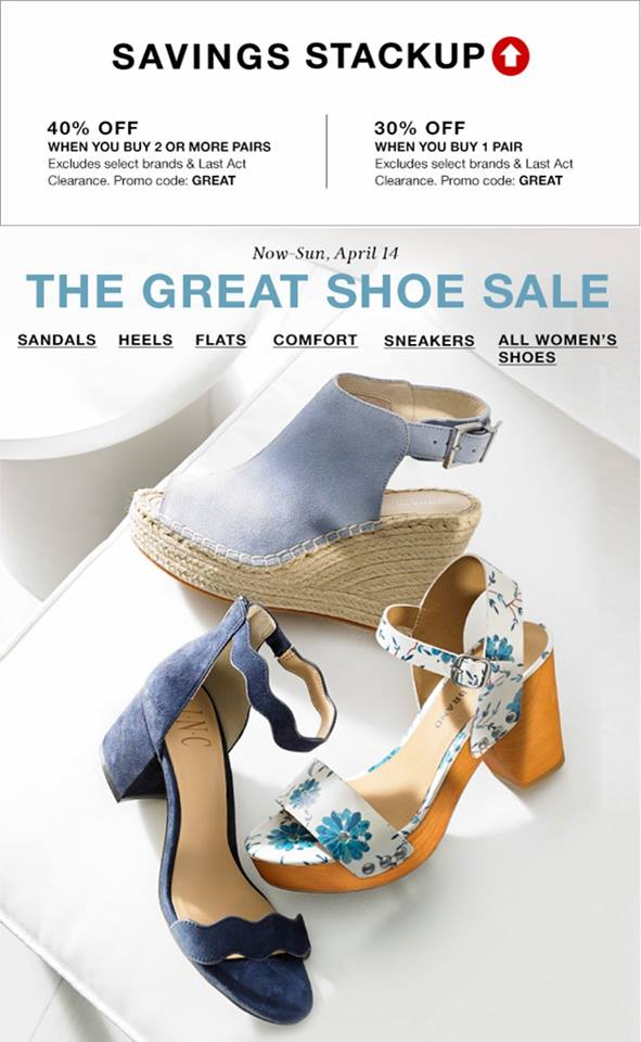 66285f04267 Macy's Great Shoe Sale: 30% or 40% off when you buy several pairs