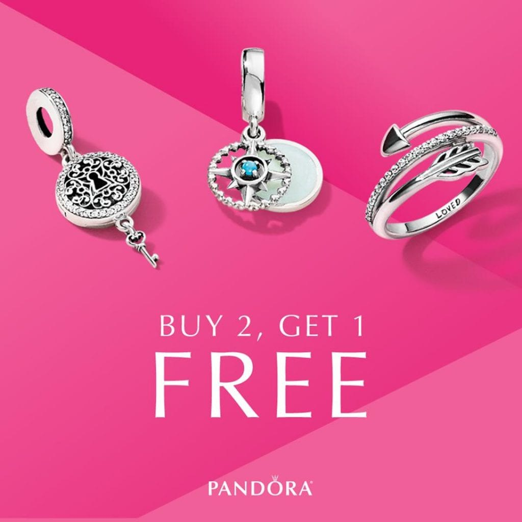 Pandora Jewelry Coupons Printable: Pandora: Buy 2 Get 1 FREE Selected Jewelry