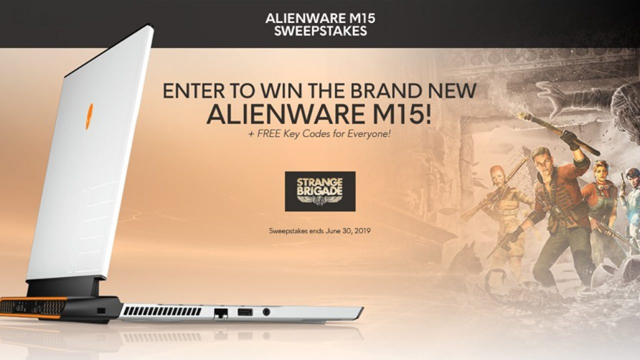 Alienware M15 Sweepstakes: Win a brand new Alienware m15 Laptop