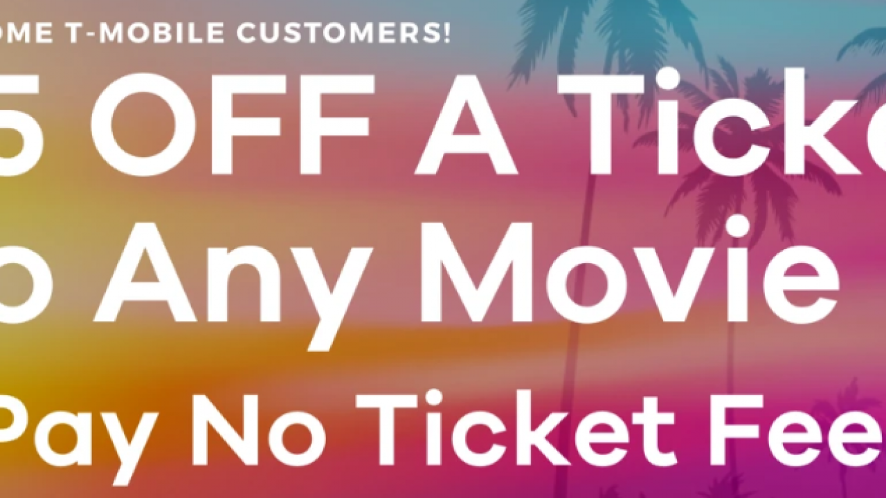 Atom Tickets T-Mobile Tuesdays promo: $5 off any movie ticket