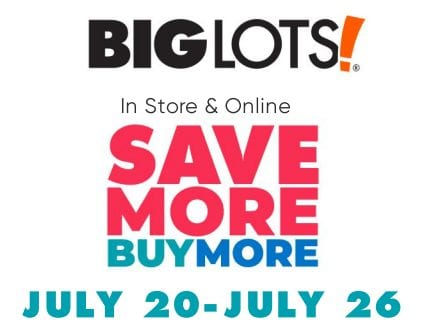 Big Lots Save More Buy More Coupon Code Up To 100 Off Your Entire Purchase