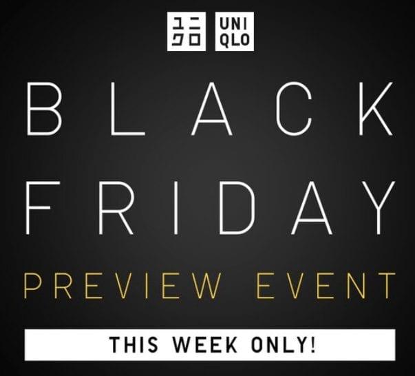 Uniqlo Black Friday 2019 Preview Deals